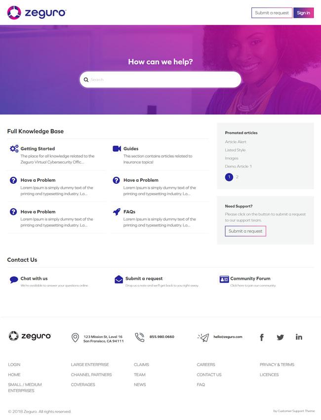 Zendesk Theme Customization | Self Themes